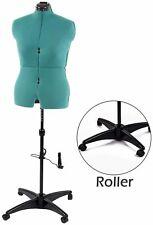 Female Mannequin Torso Body Sewing Dressmakers 11 Dials Dress Form Rolling Base