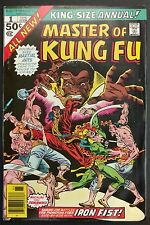 MASTER OF KUNG FU GIANT SIZE 68 PGS #1 TO 4 COMP. HI GRADE + ANNUAL #1 IRON FIST