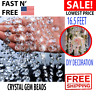 Crystal Gems Beads Clear Strands Garland Bead Chandelier Lamp Chain For Wedding