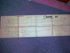 Swannee por J Bowmer un plan de ala baja del timón sólo desde el 60S