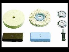 deux disques feutre de polissage +2 pate a polir Kit metal jielde jumo bakelite