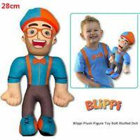11 inch Blippi Plush Figure Toy Soft Stuffed Doll Kids Birthday Christmas Gift
