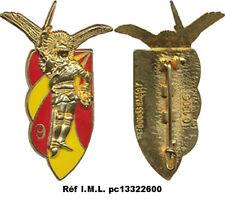 9° R.C.P, métal doré, voilure rouge et jaune alterné, Boussemart 1366 (7075)