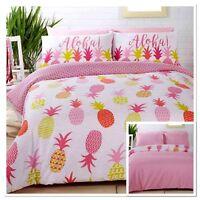 Rapport Pineapples Fun Bright Funky Reversible Duvet Cover Bedding Set Multi