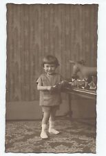 BP053 Carte Photo vintage card RPPC enfant jouet ancien cheval