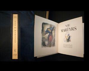 Vie des martyrs par Georges Duhamel illustrations de CH. Picart Le doux Numéroté