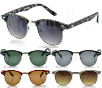 New Mens Womens Retro Vintage Club Master Cat Eye Metal Accent Shades Sunglasses