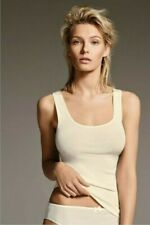 Lisanza BNWT ivory 55% wool-45% cotton wide strap lingerie camisole/top/vest-3,M