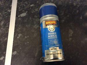 Hycote Ford Light Sapphire Blue Metallic 150ml Double Acrylic Spray Paint Aeroso