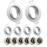 6 X Anneau / Insert Encastrable Blanc GU10 Cadre D'Encastrement Spot Lumière LED