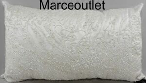 "Hudson Park Quartzite Beaded 14"" x 24"" Decorative Pillow White"