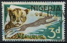 Nigeria 1969-72 SG#223, 3d Cheetah Definitive Small Imprint Used #D19233