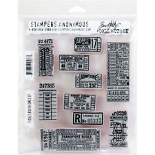 Tim Holtz Cling Stamps - Ticket Booth