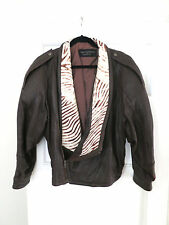 Marc Buchanan, 1980's Leather and Cowhide, Brown Women's Jacket