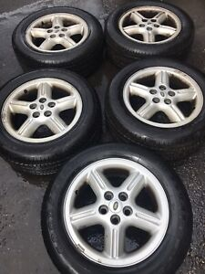 94-04 LAND ROVER DISCOVERY 2 P38 ALLOY WHEELS X4 16 INCH + TYRES