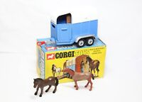 Corgi 112 Rice Beaufort Double Horse Box In Its Original Box - Near Mint Vintage