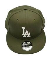 NEW ERA 9FIFTY SNAPBACK HAT.  MLB.  LOS ANGELES DODGERS.  NEW OLIVE GREEN.