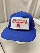 trucker hat baseball cap Vintage Snapback Mesh Patch Jerry's truck tractor Servi