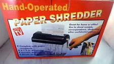 Hand Operated As Seen On TV Paper Shredder 4 1/2 inch Throat Size
