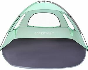 WhiteFang Beach Tent Anti-UV Portable Sun Shade Shelter for 3 Person Extendab...