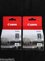 Canon 2x pg-40, PG40 NEGRO ORIGINAL OEM Pixma Cartuchos de inyección de tinta