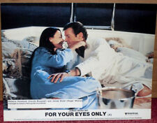FOR YOUR EYES ONLY (James Bond) 1981: UK Lobby Card (On Bed) Roger Moore