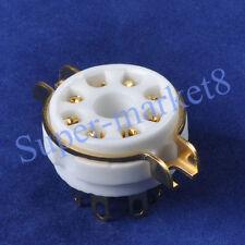 10pcs Tube Sockets Guitar hifi diy parts 8pin Octal Gold Ceramic 6SN7 KT66