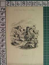 c1840 ANTIQUE PRINT ~ THE PICNIC ~ PHIZ FROM CHARLES O'MALLEY