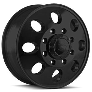 "Ion 167 Dually Front 17x6.5 8x6.5"" +125.3mm Matte Black Wheel Rim 17"" Inch"