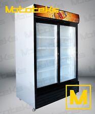 2 DOOR COMMERCIAL REFRIGERATOR SLIDING DOOR COOLER W/ LED LIGHTS NEW