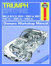 0113 Haynes Triumph Spitfire (1962 - 1981) up to X Workshop Manual