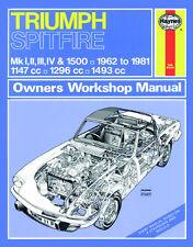 0113 Haynes Triumph Spitfire (1962 - 1981) up to X Workshop Manual
