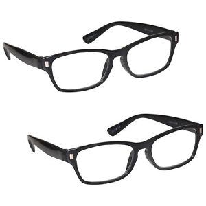 Mens Womens Reading Glasses 2 Packs UV Reader RR77