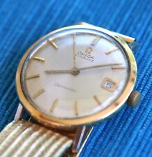 OMEGA SEAMASTER WATCH (RELOJ). 18K GOLD (Even Bracelet). 60´s!