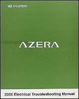 2006 Hyundai Azera Electrical Troubleshooting Manual Original OEM Wiring Diagram