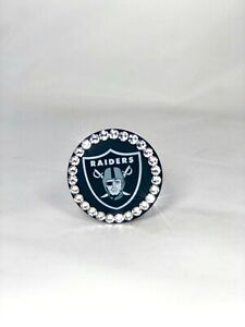 Bling PopSocket w/ Genuine Swarovski Crystals - NFL Raiders Cell Phone Grip