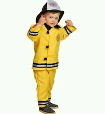 OLD NAVY FIREMAN FIREFIGHTER COSTUME WITH HAT 0-6 MO HALLOWEEN 3 6