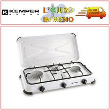 KEMPER FORNELLO A GAS 3 FUOCHI BRUCIATORE PROF. PER CAMPEGGIO 104982 FORNELLINO