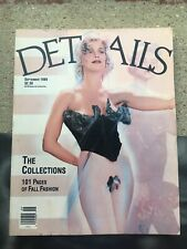 Vintage Details Magazine September 1989 Fall Fashions