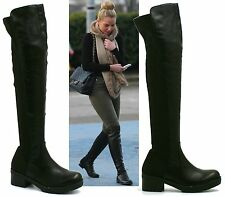 Unbranded Knee High Pull on Synthetic Leather Women's Boots