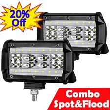 """5"""" inch LED Light Bar 1000W Spot Flood Combo Offroad Boat Marine Jeep Ford Lamp"""