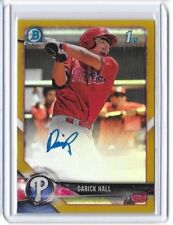 Darick Hall 2018 Bowman Chrome Gold Refractor Auto Autograph Rookie RC /50