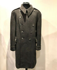 SUPERB MANS CROMBIE DOUBLE BREASTED TRENCH LONG COAT SIZE 44 UK
