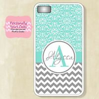 New Monogram Fitted Case for iPhone 6 - 6 Plus - iPhone 4/4S - 5/5S Gray Chevron