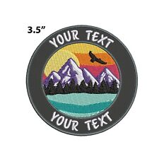 New ListingCustom Your Text Embroidered Patch Iron-on / Sew-on Nature Mountain Applique