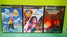 Final Fantasy X, X-2, VII Dirge of Cerberus - PlayStation 2 PS2 RPG 3 Game Lot