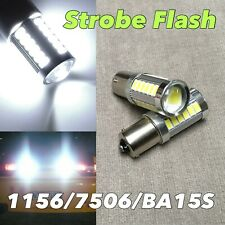 STROBE FLASH 6K WHITE 1156 BA15S 7506 P21W SMD LED Brake Stop Light Bulb W1 JAE