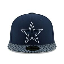 NewEra Dallas Cowboys Navy 2017 Sideline Official 59FIFTY Fitted Hat-SIZE- 7 3/8