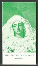 Estampa de la Virgen de la Esperanza andachtsbild santino holy card santini
