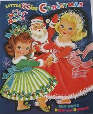 Little Miss Christmas And Holly-Belle Reproduction Paper Doll Book-So Charming!